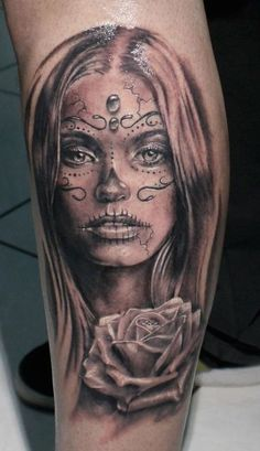 female day of the dead tattoos 7 beautiful sugar skull lady
