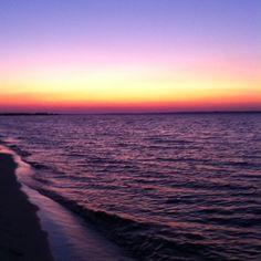 Navarre Beach Florida at sunset.