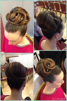 Classic bridal up style for long hair, Facebook-Hair by Katie