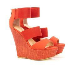 Jasmine #Orange #Wedge #High #Heel #Shoes #Love