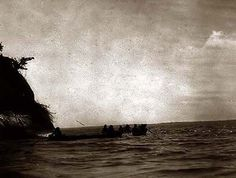 Here we present an historic image of the Lower Columbia. It was taken in 1910 by Edward S. Curtis.    The image shows Chinook Indians in canoes on the Columbia River, Washington or Oregon.    We have created this collection of images primarily to serve as an easy to access educational tool. Contact curator@old-picture.com.