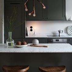 Peek Inside a Cozy Family Home in Stockholm With a Seamless Mix of High and Low Decor - Nordic Design Interior Design Kitchen, Kitchen Decor, Kitchen Furniture, Home Improvement Loans, Scandinavian Kitchen, Scandinavian Interiors, White Interiors, Scandinavian Design, Beautiful Kitchens