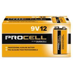 Procell Alkaline #Batteries, 9V, 12/Box DURPC1604BKD