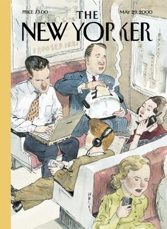 "The New Yorker - Monday, May 29, 2000 - Issue # 3891 - Vol. 76 - N° 13 - « The Digital Age » - Cover ""Twenty-First Century Commute"" by Barry Blitt"