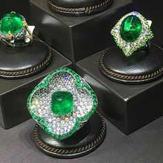 Bayco Emerald and diamond rings. Always a pleasure to see you!