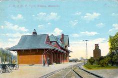 C. M. & St. Paul Railroad Depot, Winona, Minnesota, 1909 www.visitwinona.com