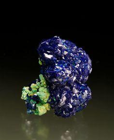 azurite with malachite la sal utah miniature
