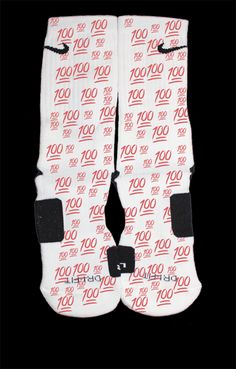 These are authentic Nike Elite socks for sale. The design on the sock was not created by Nike, but was created and customized by me. This is a single pair for sale.  All of our socks are custom made when you order. They will have variations and slight imperfections. No two socks will be alike -...
