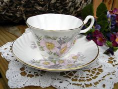 Royal Tara Teacup Tea Cup and Saucer Fine Bone Vintage from 1940s