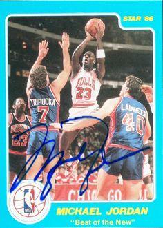 Michael Jordan 1985-1986 Star Co. Reprint Basketball Card