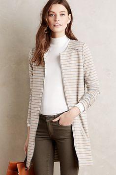 Stitch Fix Stylist - cute jacket. French Terry Stripe Coat #anthropologie