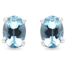 Malaika Sterling Silver Aquamarine Earrings