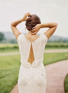 Baby got Back – 30 Showstopping Statement Back Wedding Dresses | Jenny Packham Esme backless wedding dress embellishment | weddingsonline