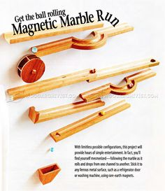 #44 Magnetic Marble Run Plans - Wooden Toy Plans