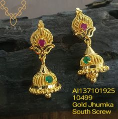 24k Gold Jewelry, Indian Jewelry Earrings, Beaded Jewelry, Ear Rings, Long Tops, Dresses With Sleeves, Collections, Drop Earrings, Jewels
