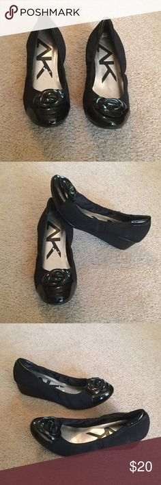 Ann Klein Sport Shoes Very good condition. Cushioned insole.  1.5 inch wedged heel.  Fabric upper, balance man made in China. Size 10M Ann Klein Sport Shoes Wedges