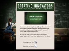 Creating Innovators - Created on Tactilize Change The World, Innovation, Education, Educational Illustrations, Learning, Onderwijs, Studying