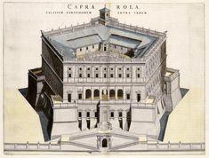 Palazzo Farnese in Caprarola, Italy, 1663 British Architecture, Roman Architecture, Architecture Drawings, Historical Architecture, School Architecture, Beautiful Architecture, Architecture Design, Buildings Artwork, Star Fort