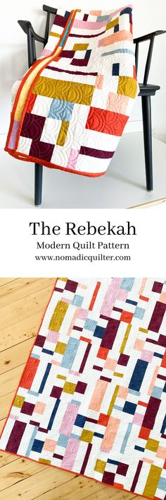 The Rebekah Modern Quilt Pattern Featuring Warp and Weft by Ruby Star