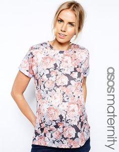 ASOS Maternity T-Shirt In Floral Print