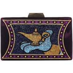 Danielle Nicole Disney Aladdin Magic Lamp Evening Clutch ($78) ❤ liked on Polyvore featuring bags, handbags, clutches, evening bags clutches, evening clutches, special occasion purses, evening handbags and cocktail purse