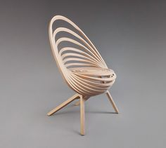 Octave Looping Plywood Chair by Estampille 52
