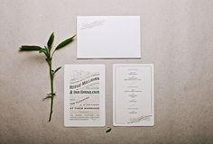 Royal Letterpress Wedding Invitation