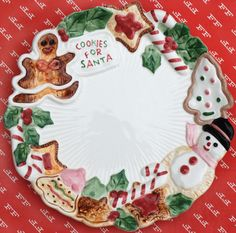 Cookies for Santa plate (Fitz and Floyd '92).