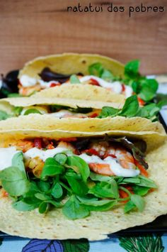 ratatui dos pobres: Tacos de milho c/ camarão