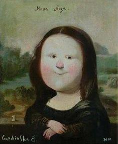 Wombart - great art from contemporary artists Mona Lisa, Colorful Drawings, Cute Drawings, Ukrainian Art, Art Corner, Feminist Art, Line Illustration, Naive Art, Portrait Art