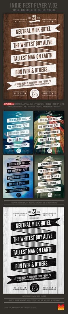 Indie Fest Poster V.2.0 by moodboy , via Behance