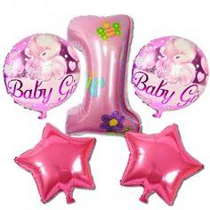 1 Yaş Doğum Günü Pembe Folyo Balon 5'li Set  -Ürün ölçüleri ; 1 adet 70 cm Pembe Rakam folyo balon 2 adet 20 cm Pembe Yıldız folyo balon 2 adet 40 cm Pembe Yuvarlak folyo balon  -1 Paket içinde 5 adet folyo balon -Plastik balon çubuğu (Pipet) yada balon pompası yardımıyla şişirebilir