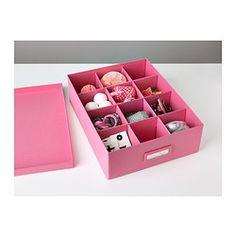 TJENA Doos met vakken - roze - IKEA