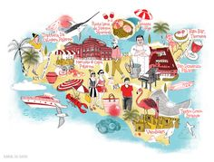 Illustrated map of Sicily, for National Geographic Traveller #map #mapillustration #illustration