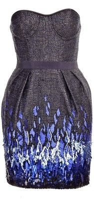 Patchwork Cocktail Weave Beaded Cocktail Dress