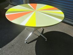Orange Yellow and Green 1970s Funky Dining by dishreincarnation, $320.00