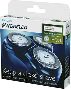 Philips Norelco - HQ56/52 Replacement Shaving Head - Black