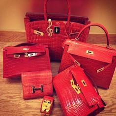Hermes red exotics...