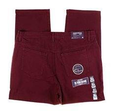 Gloria Vanderbilt Womens Plus Size Amanda Classic Fit Tapered Pants  Short Inseam 22W Cranberry Wine * Check this awesome product by going to the link at the image.