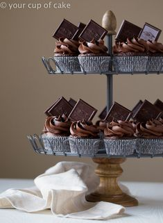 Ghiradelli Chocolate Cherry Cupcakes, it's a chocolate lovers dream come true!