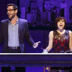 "In ""First Date,"" Levi pairs up with Krysta Rodriguez, who's also not Jewish. #Broadway #NYC"