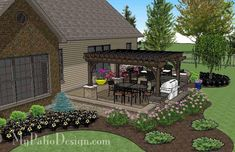 Create your very own paradise with our Dreamy Backyard Patio Design with Pergola, Grill Station/Bar, Seating Walls and Fire Pit Area. How-to's & material list.