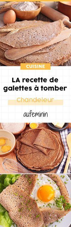 Tous les secrets pour préparer une bonne pâte à crêpes salées : les galettes de sarrasin n'uaront plus de secret pour vous ! /// #aufeminin #crepes #galette #sarrasin #blénoir #chandeleur #recette #pâteàcrêpe