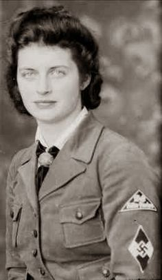 """In WWII Germany, teenage girls were inducted into the """"Band of German Maidens"""" (Bund Deutscher Mädel / BDM) wing of the Nazi Party youth organization. No Choice given, part of Hitler's battle for the minds of the youth."""