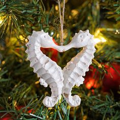 Kissing Seahorse Ornament