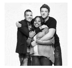 Such a cute cast (Glee, Mark Salling, Cory Monteith, Amber Riley) Calgary, Glee Cory Monteith, Mark Salling, Rachel And Finn, Amber Riley, Finn Hudson, Tv Show Casting, Glee Club, Chris Colfer