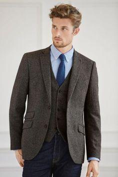 Buy Slim Fit Herringbone: Jacket from the Next UK online shop