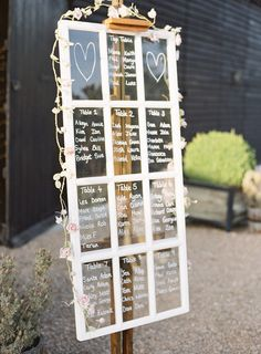 Window Pane Table Plan - Preston Court Wedding With A Pastel Colour Scheme With Bride In Pronovias And Images From Amy Fanton Photography