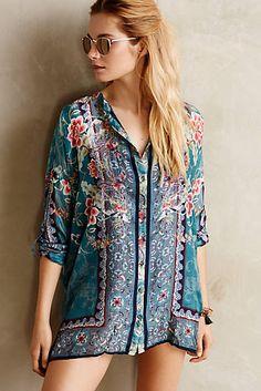 Silk Blossom Kimono Top