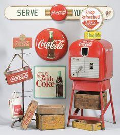 I collect Coca Cola memorabilia for my kitchen --- CRAZY ABOUT IT!!